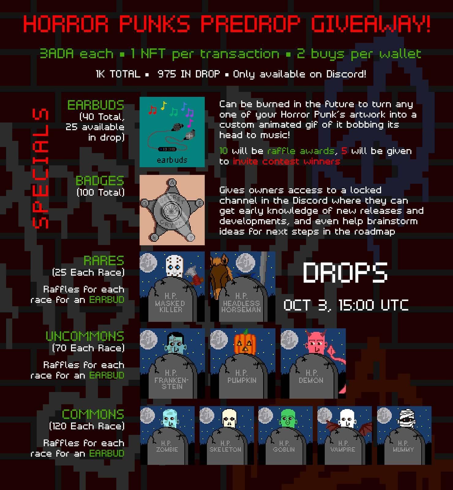 Horror Punks Pre-Drop Giveaway