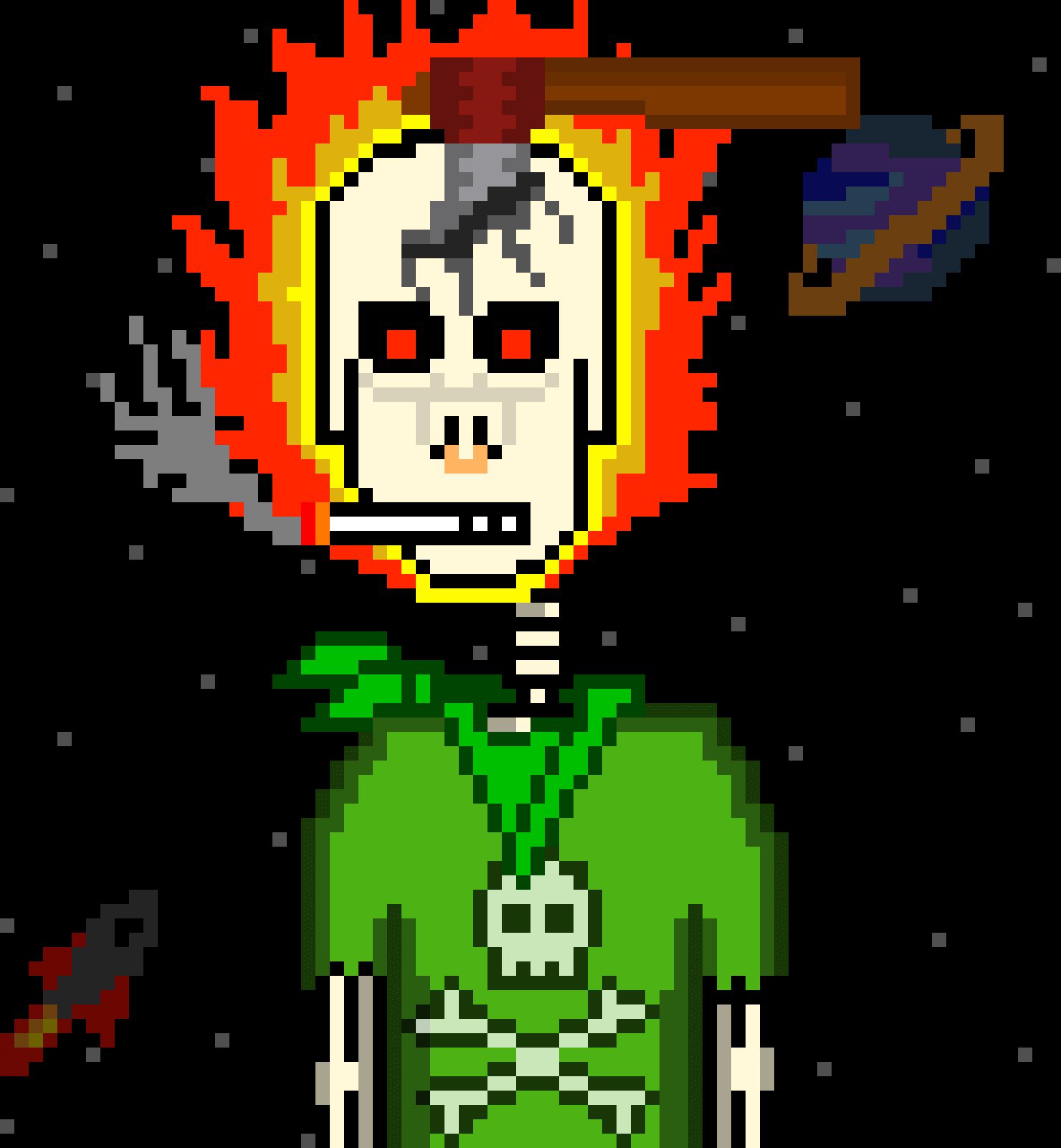 Horror Punk representing TelFiRE, Web Developer